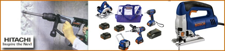 Cutters, drills, rotary hammers, grinders, metalworking tools, woodworking tools and garden tools